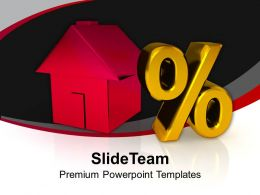 Home With Percent Growth Real Estate Powerpoint Templates Ppt Themes And Graphics 0213