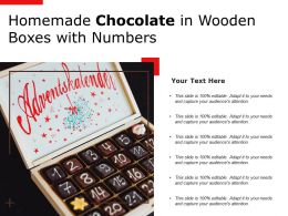Homemade Chocolate In Wooden Boxes With Numbers