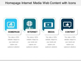 Homepage Internet Media Web Content With Icons