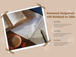 Homework Assignment With Notebook On Table
