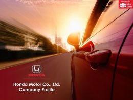 Honda Motor Co Ltd Company Profile Overview Financials And Statistics From 2014-2018