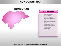 Honduras Country PowerPoint Maps