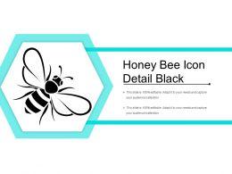 Honey Bee Icon Detail Black