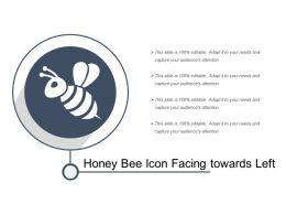 Honey Bee Icon Facing Towards Left