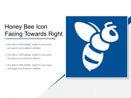 Honey Bee Icon Facing Towards Right