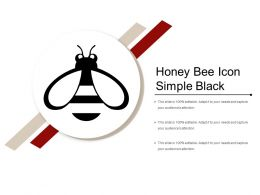 Honey Bee Icon Simple Black