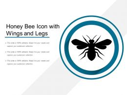 Honey Bee Icon With Wings And Legs