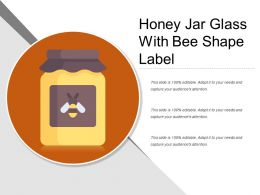 Honey Jar Glass With Bee Shape Label