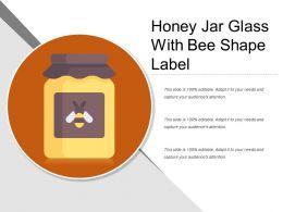Honey Jar Glass With Bee Shape Label