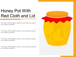 Honey Pot With Red Cloth And Lid