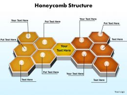 honeycomb structure 3d on flat surface powerpoint diagram templates graphics 712