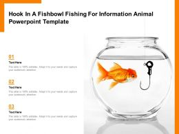 Hook In A Fishbowl Fishing For Information Animal Powerpoint Template