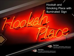 Hookah And Smoking Place With Illuminated Sign