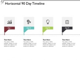 Horizontal 90 Day Timeline