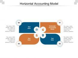 Horizontal Accounting Model Ppt Powerpoint Presentation Portfolio Layouts Cpb