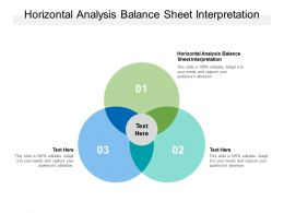 Horizontal Analysis Balance Sheet Interpretation Ppt Powerpoint Presentation Ideas Cpb