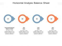 Horizontal Analysis Balance Sheet Ppt Powerpoint Presentation Infographic Template Graphics Cpb