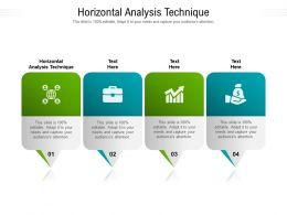 Horizontal Analysis Technique Ppt Powerpoint Presentation Portfolio Shapes Cpb
