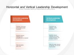 Horizontal And Vertical Leadership Development