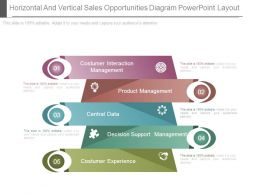 Horizontal And Vertical Sales Opportunities Diagram Powerpoint Layout