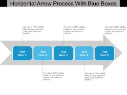 Horizontal Arrow Process With Blue Boxes