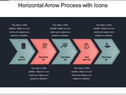 Horizontal Arrow Process With Icons