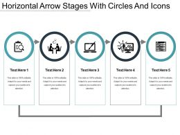 Horizontal Arrow Stages With Circles And Icons
