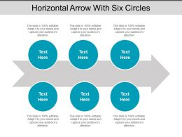 Horizontal Arrow With Six Circles