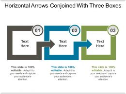 Horizontal Arrows Conjoined With Three Boxes