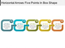 Horizontal Arrows Five Points In Box Shape