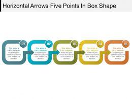 Horizontal Arrows Five Points In Box Shape