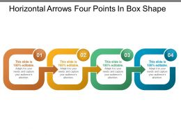 Horizontal Arrows Four Points In Box Shape