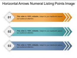 Horizontal Arrows Numeral Listing Points Image