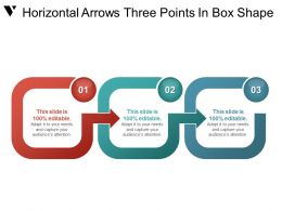 Horizontal Arrows Three Points In Box Shape