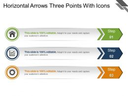 Horizontal Arrows Three Points With Icons