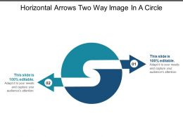 Horizontal Arrows Two Way Image In A Circle
