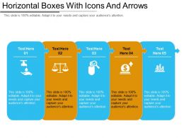 Horizontal Boxes With Icons And Arrows