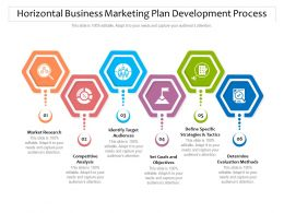 Horizontal Business Marketing Plan Development Process