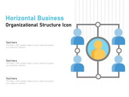 Horizontal Business Organizational Structure Icon