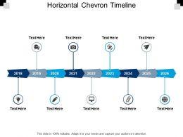 Horizontal Chevron Timeline