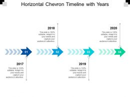 Horizontal Chevron Timeline With Years