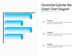 Horizontal Cylinder Bar Graph Chart Diagram