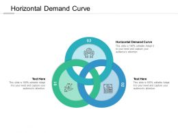 Horizontal Demand Curve Ppt Powerpoint Presentation Icon Deck Cpb