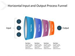 Horizontal Input And Output Process Funnel