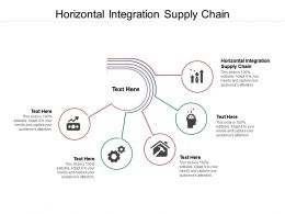 Horizontal Integration Supply Chain Ppt Powerpoint Presentation Styles Brochure Cpb