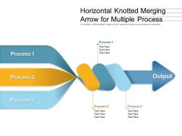Horizontal Knotted Merging Arrow For Multiple Process