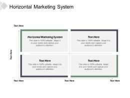 Horizontal Marketing System Ppt Powerpoint Presentation Inspiration Background Cpb