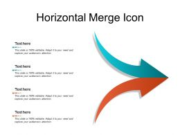Horizontal Merge Icon
