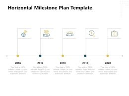 Horizontal Milestone Plan 2016 To 2020 Ppt Powerpoint Presentation File