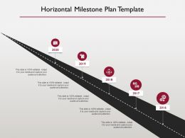 Horizontal Milestone Plan Marketing Ppt Powerpoint Presentation Skills